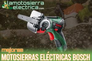 Las mejores motosierras eléctricas Bosch del mercado